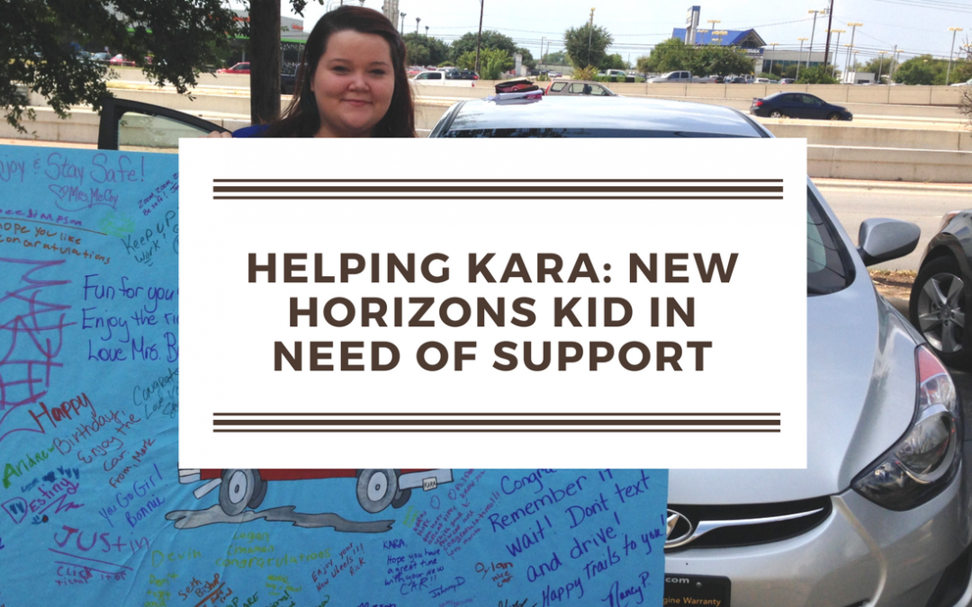 Helping Kara, a New Horizons Kid