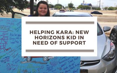 Helping Kara, a New Horizons Kid