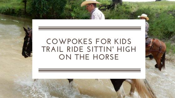 Cowpokes Trail Ride sittin' high on the horse!