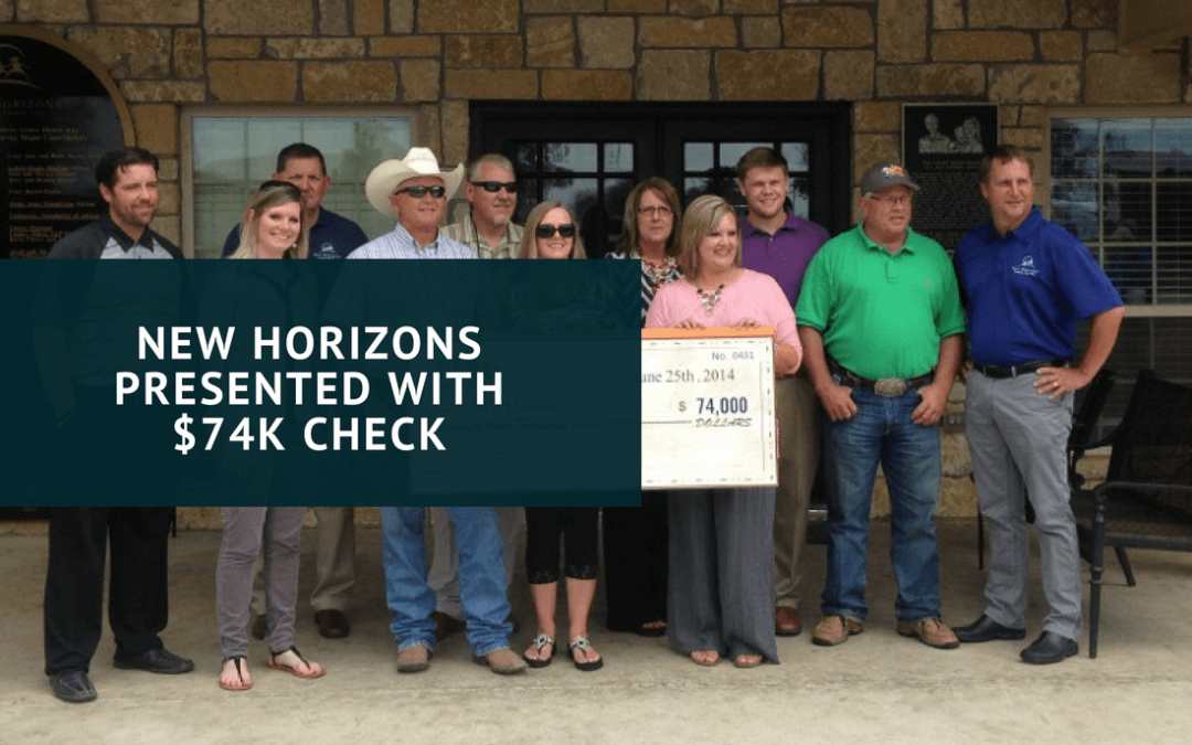 New Horizons Presented With $74K Check