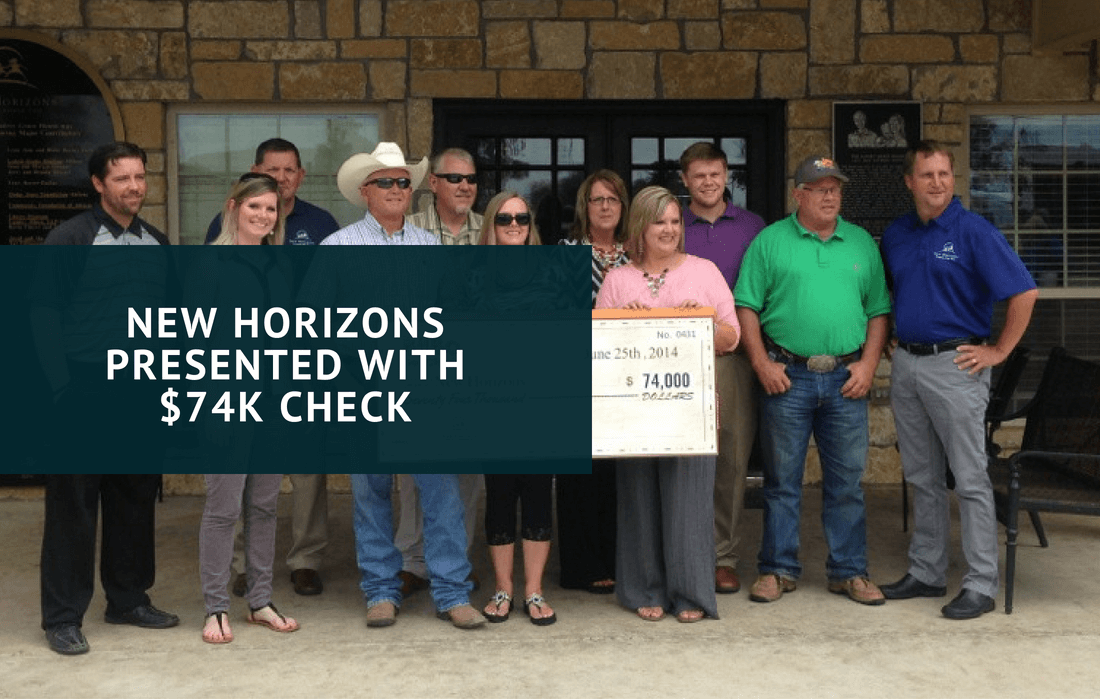 News Horizons Presented with $74K check (1)