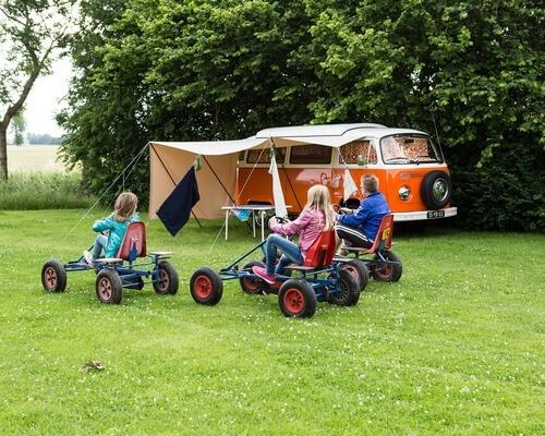 family camping trip fun